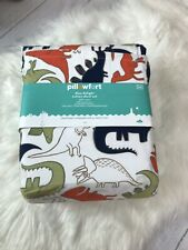 4 pc Pillowfort Dino Delight Full Sheet Set NIP