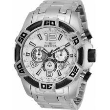Invicta Men's Watch Pro Diver Scuba Quartz Chronograph Silver Bracelet 34747