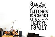 A Messy Kitchen Is A Schild Of A Happy Family Vinilo Pegatinas De Pared Adhesivo