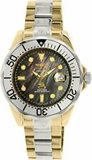 Invicta Pro Diver Automatic Black Mother of Pearl Two-tone Mens Watch 16034