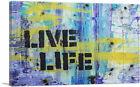 ARTCANVAS Live Life Graffiti Canvas Art Print