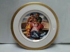 L13 Vintage 1978 Christmas Plate The Holy Family by Michelangelo~First Noel~Euc
