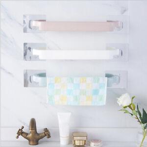 1Pcs Self-adhesive Towel Holder Free Punching Wall Mounted Bathroom Towel Racks