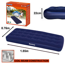 Single Flocked Camping Airbed Inflatable Mattress Blow Up Indoor Outdoor Air Bed