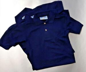 AGE 2 NAVY BLUE MAX PENTHOUSE POLO PLAIN 65/35 SCHOOL SPORT POLO