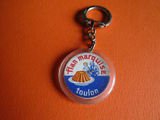 PORTE-CLES 1960 1970 FLAN MARQUISE TOULON DESSERT TACOT VOITURE RENAULT