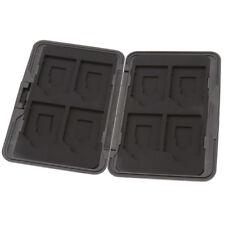 8x SD Micro Memory Card Storage Case Holder Hard Carrying Box Black Aluminum