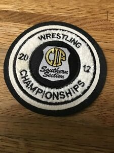 2012 CIF  Wrestling  Championships Chenille Felt Letterman Jacket Patch