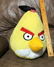 "Angry Birds Yellow Chuck Bird Sounds Fuzzy 14"" Commonwealth Toys Plush Stuffed"
