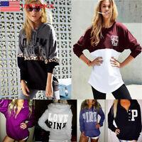 Women Long Sleeve Hoodie Pullover Sweatshirt Sweater Casual  Winter Tops Blouse