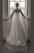 Cut Edge 200cm Wedding Veil 1 Layer Bridal Veil In White Ivory Black