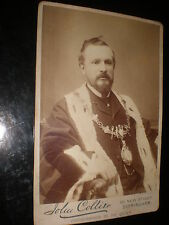 Old cabinet photograph Mayor by John Collier at Birmingham c1890s