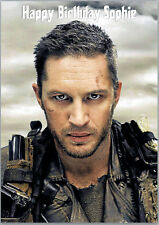 Tom Hardy Birthday Card A5 Personalised with any wording