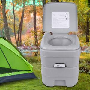 les toilettes portables avec panier lavable et porte-papier toilette Opfury Mobile Toilette pour le camping si/ège de camping portable pour le camping randonn/ée Blanc.