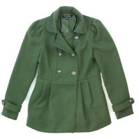 Forever 21 Womens Olive Green Double Breasted Coat Size Small