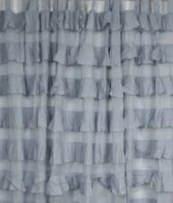 French Shabby Chic Curtains Ruffled Blue Girls Nursery Room Tab Top 110 x 220cm
