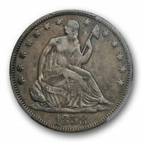 1858 S 50C Seated Liberty Half Dollar PCGS VF 30 Very Fine to Extra Fine Tough