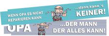 Zollstock Maßstab lustig Opa farbig bedruckt Wunschdruck Comic + gratis Geschenk