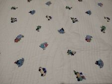 Kids Twin Quilt & Sham Transportation Truck Car Boat Helicopter Train 72x92