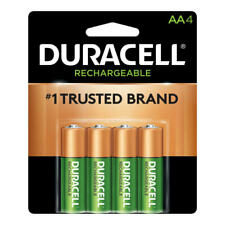 Duracell NiMH AA Rechargeable Batteries, Pack Of 4 Batteries