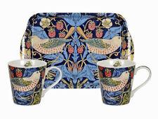 Morris & co pour pimpernel strawberry thief bleu tasses & bac set