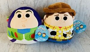 """Squishmallows Buzz & Woody Toy Story  8"""" Disney Collectable Stuffed NWT"""
