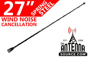 """27"""" Black Spring Stainless AM/FM Antenna Fits: 1999-2005 Cadillac Escalade"""