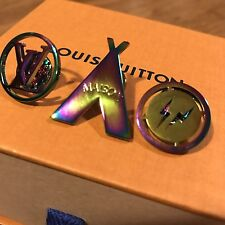 New Louis Vuitton X Fragment Design Brooch Pin Set Supreme pre-collection