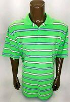 Mens Nike Golf Tour Performance DRI FIT Green Striped Polo Golf Shirt 2XL