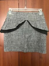 Primark Atmosphere Grey Peplum Mini Skirt Size UK 8