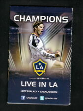 David Beckham--2012 LA Galaxy Pocket Schedule