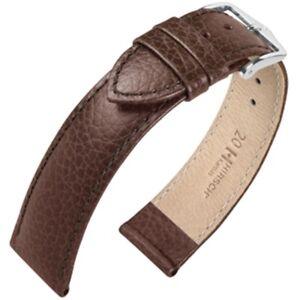 Hirsch Kansas Calf Leather Watch Strap Brown Choice of Size