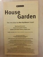 HOUSE & GARDEN DAVID HAIG JANE ASHER CHARLIE HAYES MICHAEL SIBERRY SIAN THOMAS