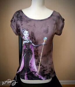 2012 Disney Designer Evil Villain MALEFICENT Fashion Tee Shirt Pre-Owned Rare