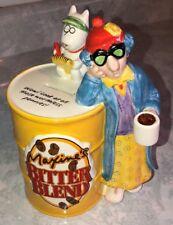Hallmark Maxine's & Floyd Bitter Blend Coffee Can Coin Piggy Bank Porcelain