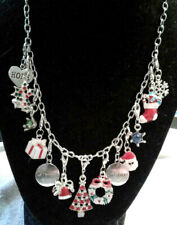 and silver tone chain necklace pretty 13 silver tone christmas charms