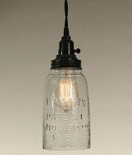 Country 1/2 gallon MASON JAR pendant hanging light /PLUG IN LIGHT
