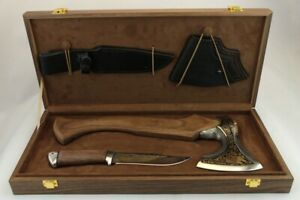 axe and knife. Wolves. Set. Forest predators. Beasts. A gift for a man. Gift