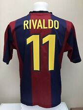 Barcelona Football Shirt Jersey RIVALDO 11 Home 1998 1999 Adults Small S