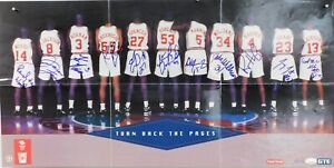 Los Angeles Clippers Signed 1992-93 Team 15x30 Poster by 11 JSA Authenticated