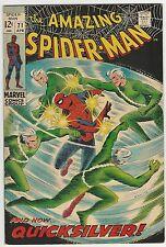 AMAZING SPIDERMAN (1963) #71 8.0 VF QUICKSILVER COVER