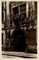 Leipzig alte Ansichtskarte ~1930 Straßenpartie am Eingang zum Thüringer Hof