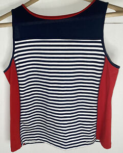 20 Blue White Striped Tank Top 100/% Polyester with tags New Womens size XXL