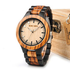 Bobo Bird Engraved Wooden Watch Personalised Mens Wristwatch Gift with Box