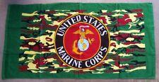 "Beach Blanket Towel Military U S Marines Corps cammie 30""x60"" NEW 100% Cotton"