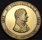James Monroe 5th President Bronze Medallion~The Last Cocked Hat~Monroe Doctrine~