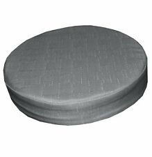 Qh12r Grey Thick Cotton Blend 3D Round Seat Cushion Cover Custom Size