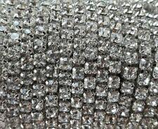 De 2 a 15 metros Cadena cuentas cristales strass 3,5mm BLANCO (CAD-57) (Nº16)