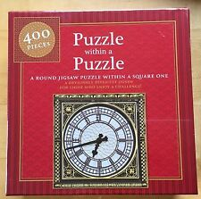 JIGSAW 400 pieces - PUZZLE WITHIN A PUZZLE - A round puzzle in a square one NEW