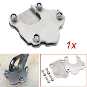 Universal Stainless Steel Motorcycle Side Kickstand Foot Mount Extension Plate